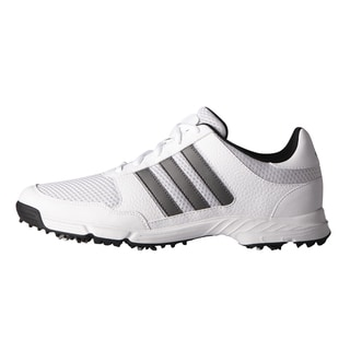 Adidas Tech Response Golf Shoes White/Dark Silver Metallic/Core Black (Option: 15)