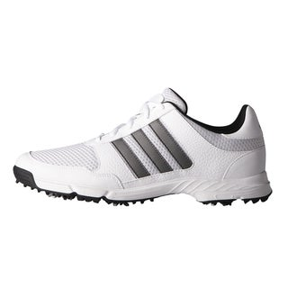 Adidas Tech Response Golf Shoes  White/Dark Silver Metallic/Core Black