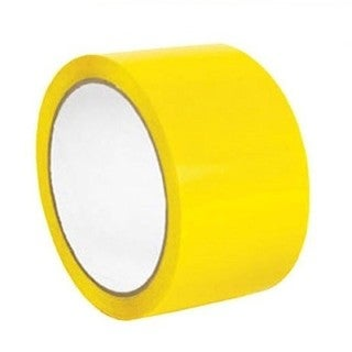 "Yellow Color Aisle Marking Tape 2"" X 36 Yards 7 mil 24 Rolls"