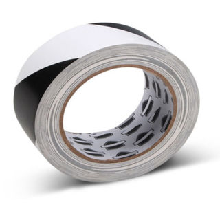 "16 Rolls 3"" x 36 Yards Aisle Marking Black & White Tapes 7 mil"
