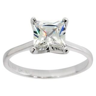 Eternally Haute 3.5 Carat Princess Cut Solitaire Ring - Silver