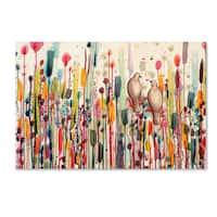 Sylvie Demers 'L'un Pour L'autre' Canvas Art