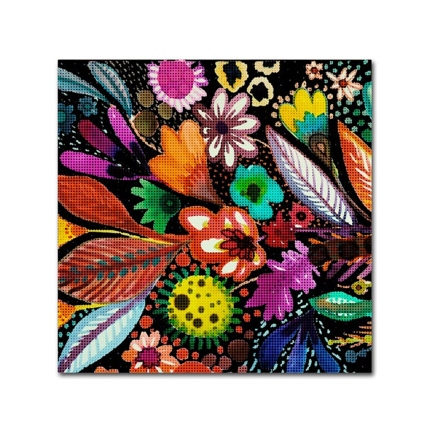Sylvie Demers 'Eclosion Black Linen' Canvas Art