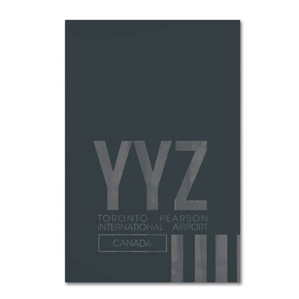 08 Left 'YYZ Airport Layout' Canvas Art