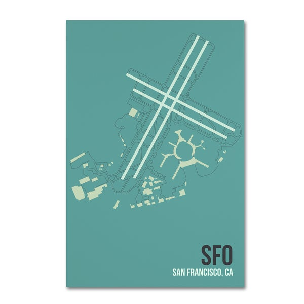 08 Left 'SFO Airport Layout' Canvas Art