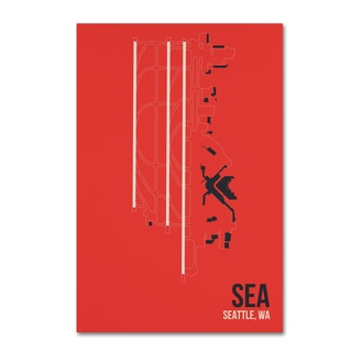 08 Left 'SEA Airport Layout' Canvas Art