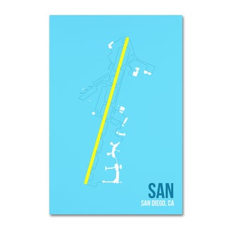 08 Left 'SAN Airport Layout' Canvas Art