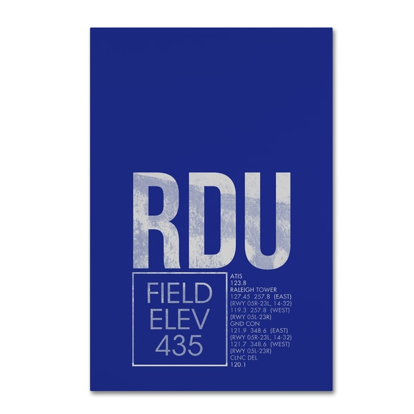 08 Left 'RDU ATC' Canvas Art