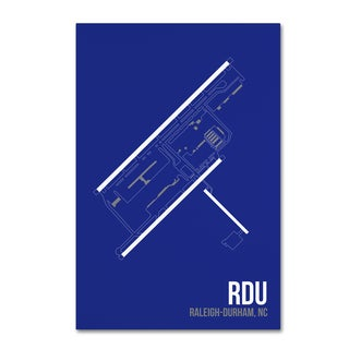 08 Left 'RDU Airport Layout' Canvas Art