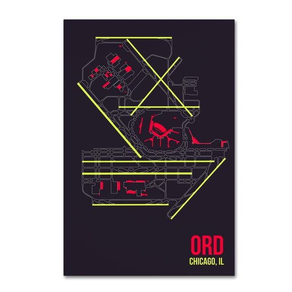 08 Left 'ORD Airport Layout' Canvas Art