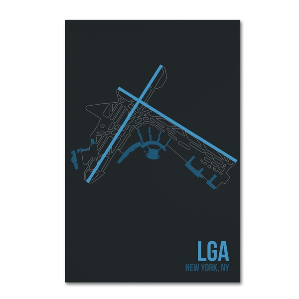 08 Left 'LGA Airport Layout' Canvas Art