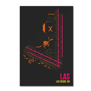 08 Left 'LAS Airport Layout' Canvas Art