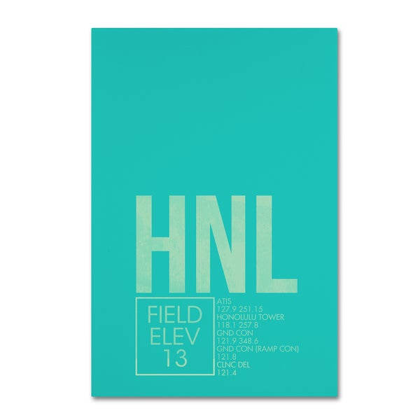 08 Left 'HNL ATC' Canvas Art
