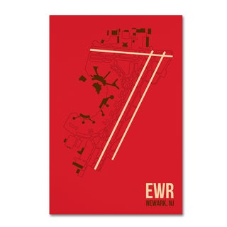 08 Left 'EWR Airport Layout' Canvas Art