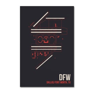 08 Left 'DFW Airport Layout' Canvas Art