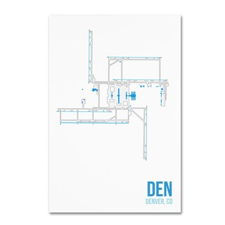 08 Left 'DEN Airport Layout' Canvas Art