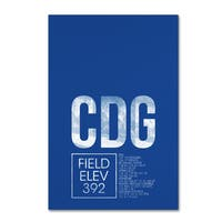 08 Left 'CDG ATC' Canvas Art