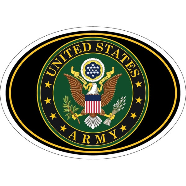 US Army Seal Star Magnet For Car or Home 3-3/4 by 5-1/4 Inches