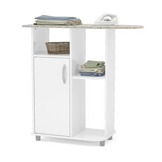 Boahaus Ironing Cart, White, 1 closed compartment - White