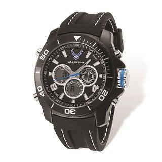 US Air Force Wrist Armor Black Digital Display Dial/Black Rubber Strap Watch