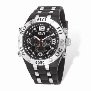 US Navy Wrist Armor Black Digital Dial/Rubber Strap Alloy Accent Watch|https://ak1.ostkcdn.com/images/products/16575260/P22906329.jpg?impolicy=medium