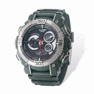 US Army Wrist Armor Green Digital Display Dial / Green Rubber Strap Watch