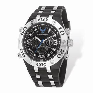 US Air Force Wrist Armor Black Digital Dial/Rubber Strap Alloy Accent Watch|https://ak1.ostkcdn.com/images/products/16575264/P22906333.jpg?impolicy=medium