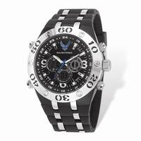 US Air Force Wrist Armor Black Digital Dial/Rubber Strap Alloy Accent Watch