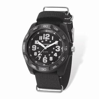 US Marine Corps Wrist Armor Lighted Black Dial/Black Nylon Strap Watch