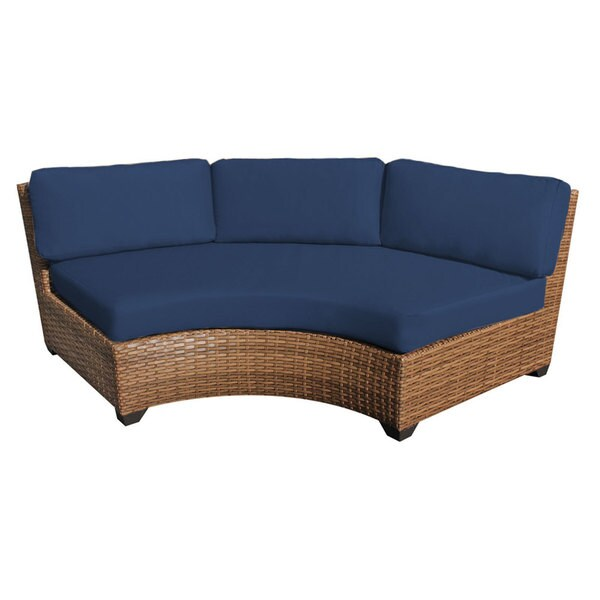 Outdoor Home Bayou Wicker Curved Armless Sofa Free Shipping Today