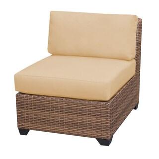Outdoor Home Bayou Outdoor Patio Armless Wicker Sofa
