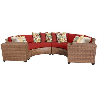 Bayou 4-piece Wicker Outdoor Patio Lounge Set