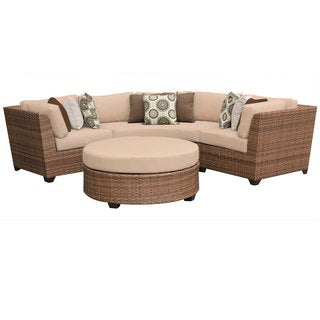 Bayou 4-piece Wicker Outdoor/Patio Lounge and Ottoman Set