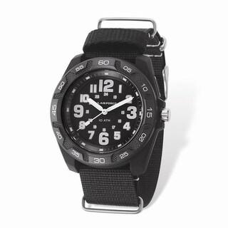 US Air Force Wrist Armor Lighted Black Dial & Black Nylon Strap Watch