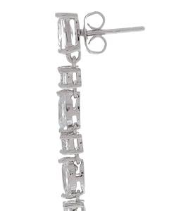 Icz Stonez Sterling Silver CZ Briolette Teardrop Dangle Earring
