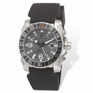 US Marines Wrist Armor Grey Dial Black Rubber Strap Swss GMT Watch