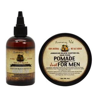 Sunny Isle Jamaican Black Castor 4-ounce Beard Oil & Hair Food Pomade