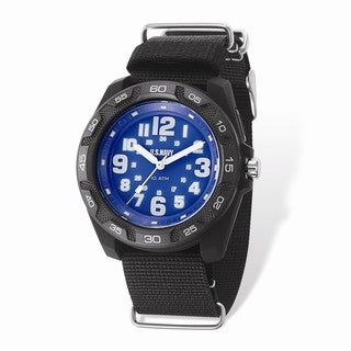 US Navy Wrist Armor Lighted Blue Dial & Black Nylon Strap Watch