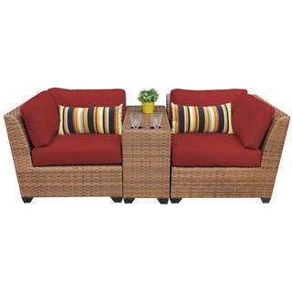 Outdoor Home Bayou 3-piece Outdoor Patio Wicker Lounge Set