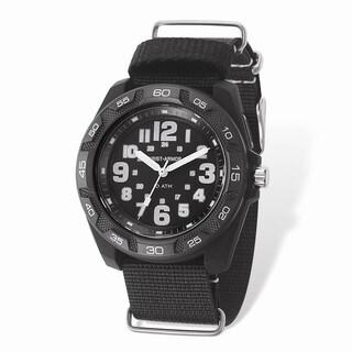 Wrist Armor Lighted Black Dial & Black Nylon Strap Watch