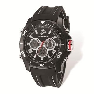 US Marine Corps Wrist Armor Black Digital Display Dial/Rubber Strap Watch