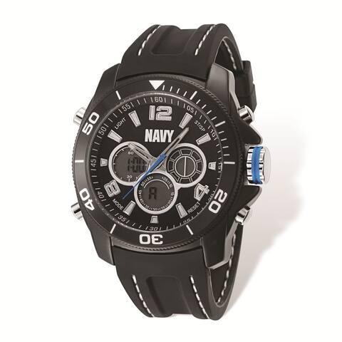 US Navy Wrist Armor Black Digital Display Dial/Black Rubber Strap Watch