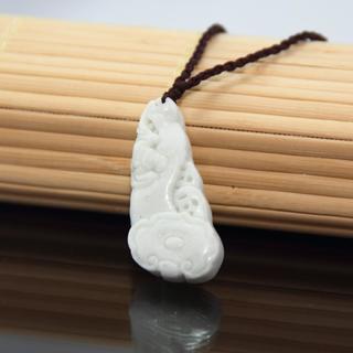 Handmade Happiness Light Green Jade Necklace (China)
