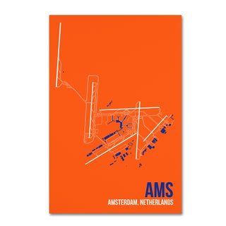 08 Left 'AMS Airport Layout' Canvas Art