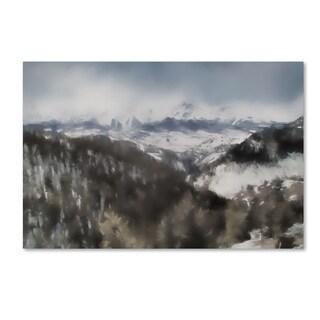 Jai Johnson 'Winter Impressions In Colorado 7' Canvas Art