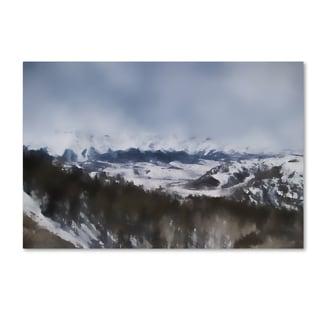Jai Johnson 'Winter Impressions In Colorado 6' Canvas Art