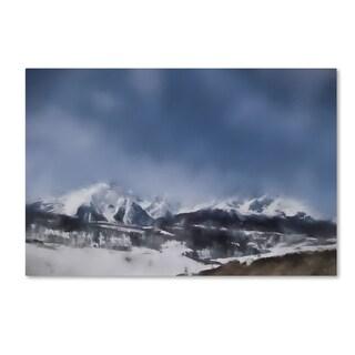Jai Johnson 'Winter Impressions In Colorado 4' Canvas Art
