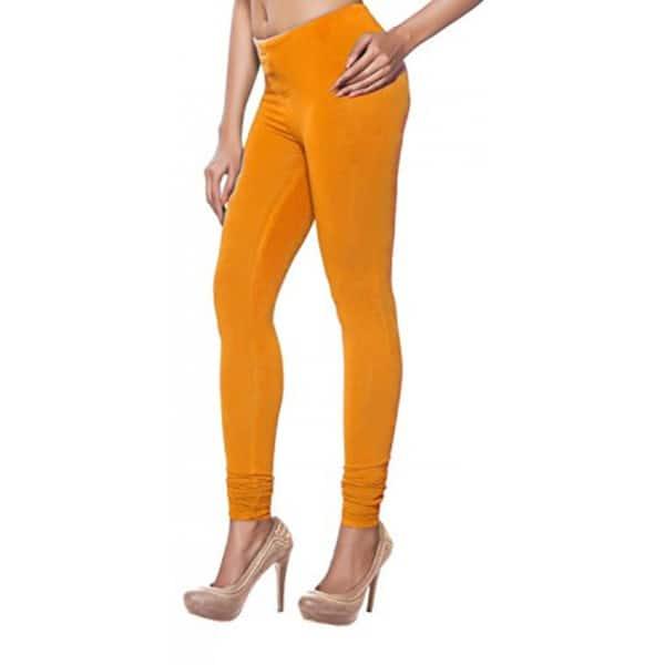 Shop Handmade In Sattva Women S Ochre Yellow Cotton Leggings India On Sale Overstock 16580478