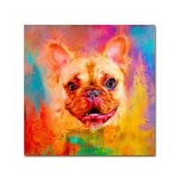 Jai Johnson 'Jazzy French Bulldog' Canvas Art