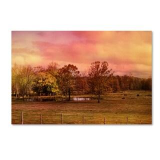 Jai Johnson 'Autumn At The Cattle Farm' Canvas Art